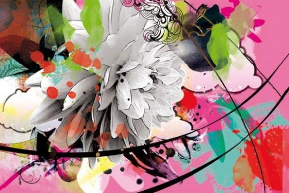 poster fleur d'été