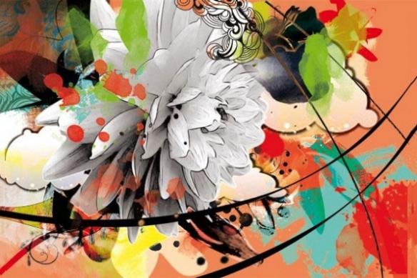 poster xxl fleur d'été