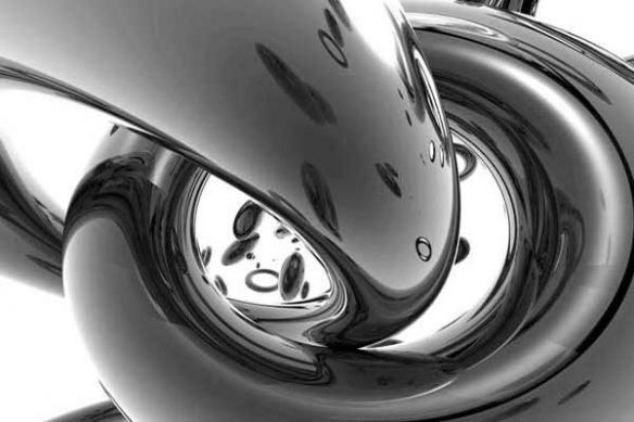 Tableau XXL noir et blanc Anneaux pour une déco design épuré