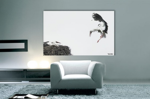 tableau moderne cigogne izoa. Black Bedroom Furniture Sets. Home Design Ideas
