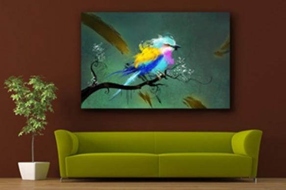 Tableau  pour décoration intérieur Oiseau