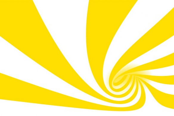 Tableau abstrait interieur Cyclone jaune