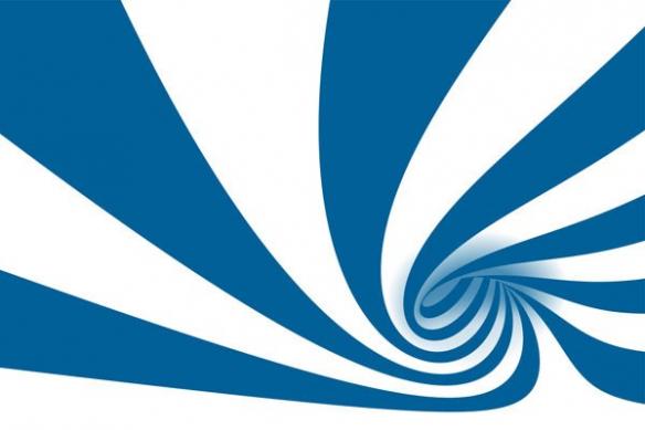 izoa deco murale abstrait Cyclone bleu