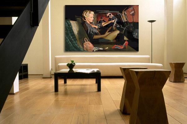 tableau contemporain arrestation izoa. Black Bedroom Furniture Sets. Home Design Ideas