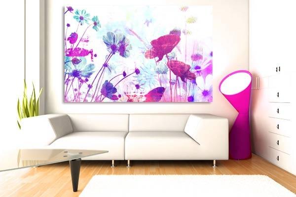 tableau fleurs romantiques izoa. Black Bedroom Furniture Sets. Home Design Ideas