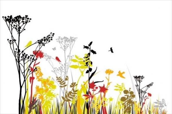 fleur décoration murale aire de printemps