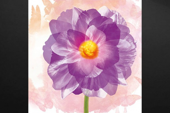 violet toile déco moderne fleur