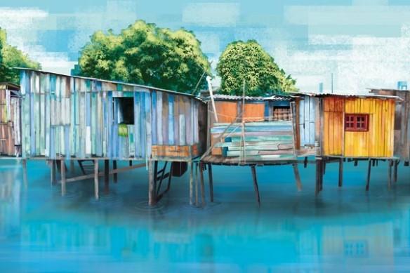 Cabanes sur pilotis décoration paysages