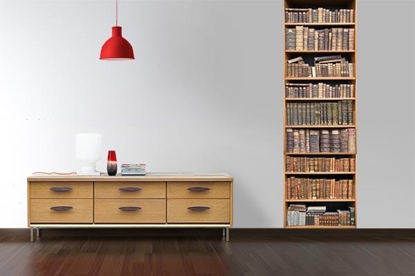 Papier peint d coration biblioth que izoa - Decoration papier peint ...