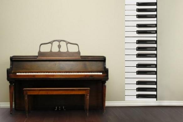 Papier peint décoration Piano
