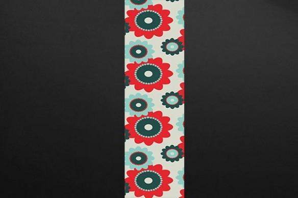 Papier peint design Fleurs Hippies