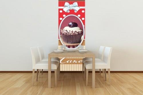 Papier peint cuisine Gâteau sur la cerise