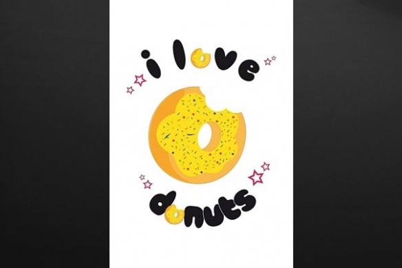 Tableau retro donuts