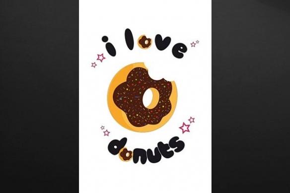 toile cuisine donut