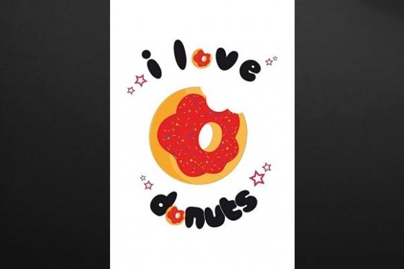 tableau rétro design donut cuisine