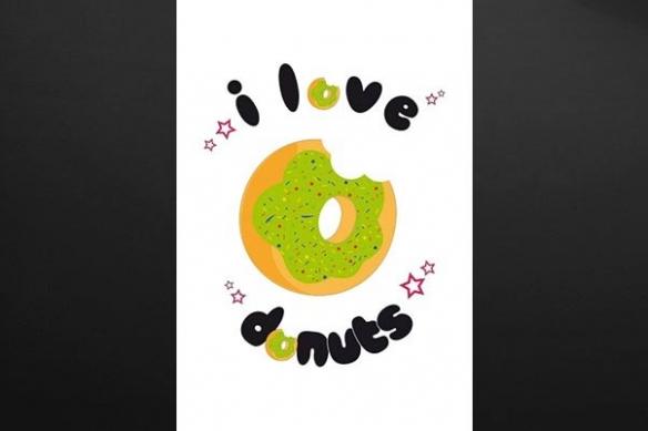 décoration murale cuisine donut