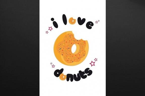 tableau déco cuisne donut