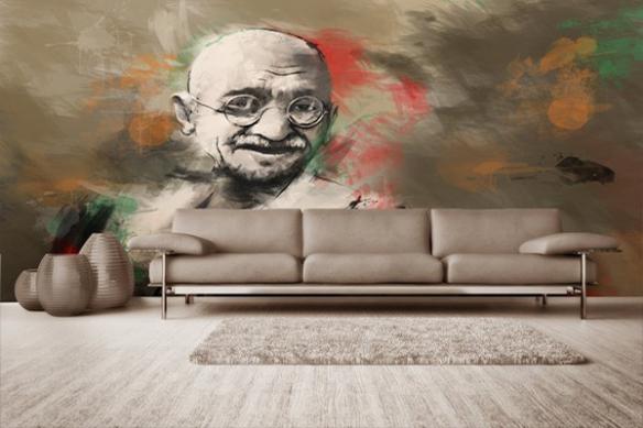 Papier Peint déco Gandhi par D.Seppoloni