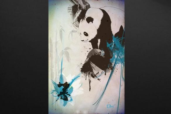 grand tableau panda