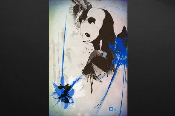 décoration design panda mural
