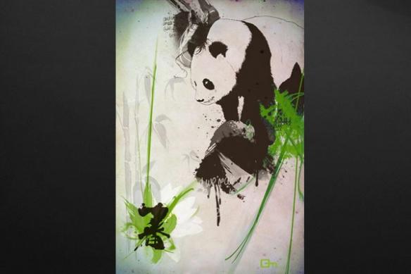 Tableau xxl design Panda