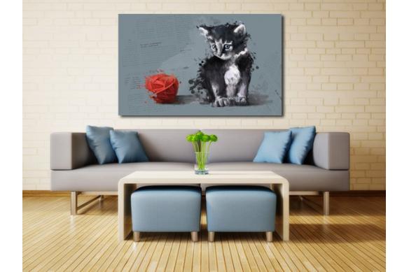 tableau déco Raoul le chat