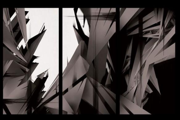 Tableau moderne abstrait gris