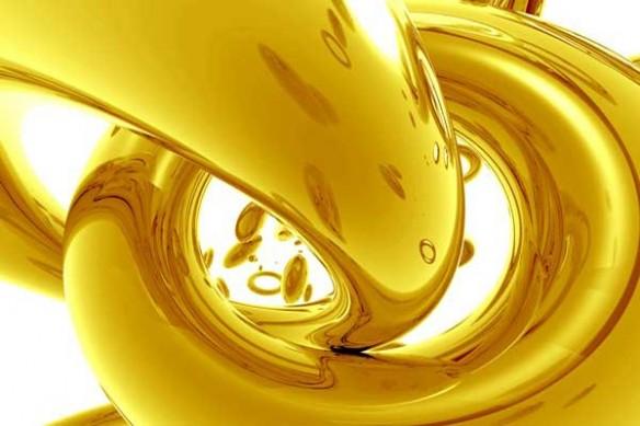 Papier peint abstrait Cercles Design jaune