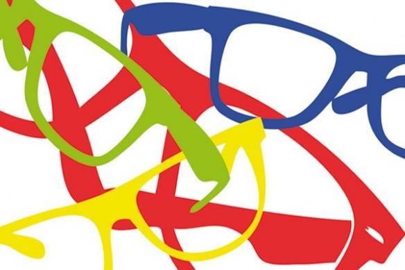 Papier peint poster Lunettes colorées