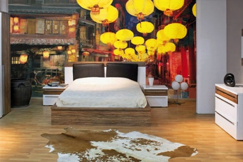 Papier peint original Marcher en Chine