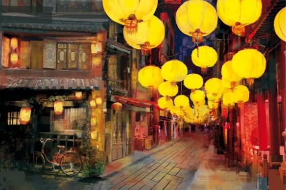 Papier peint décoration Marcher en Chine