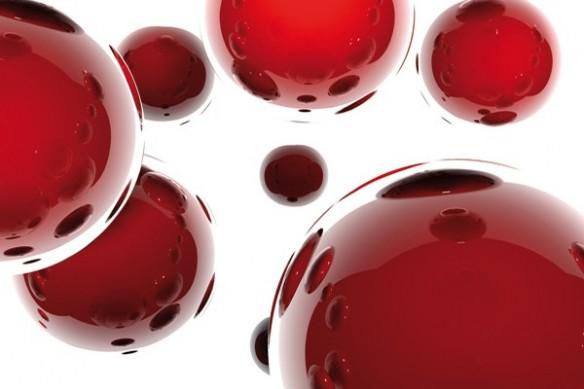 Papier peint Abstrait Sphères rouge