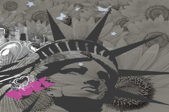 Papier peint décoration Statue de la Liberté