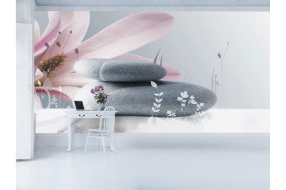 Papier Peint photo Caillou Fleur