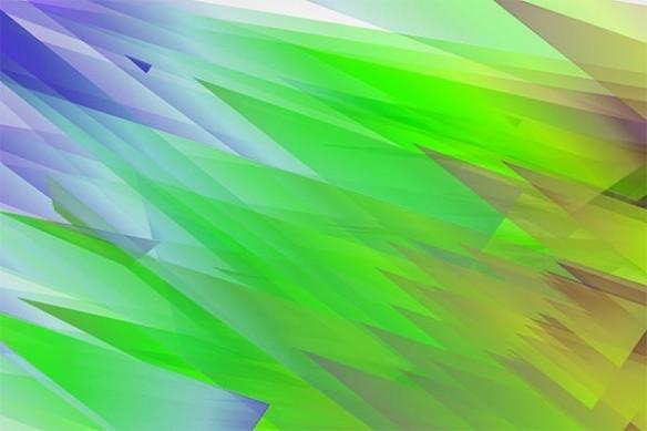 tableau abstrait contemporain Arrow vert