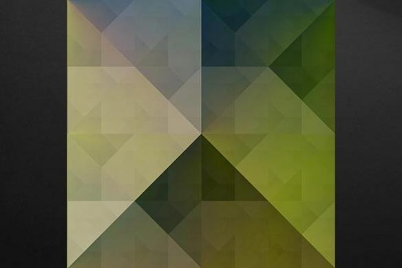 Tableau déco design Chromatic jaune