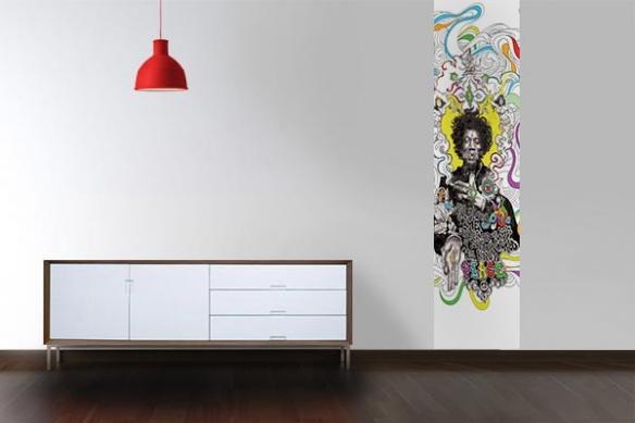 Papier peint vintage design Hendrix