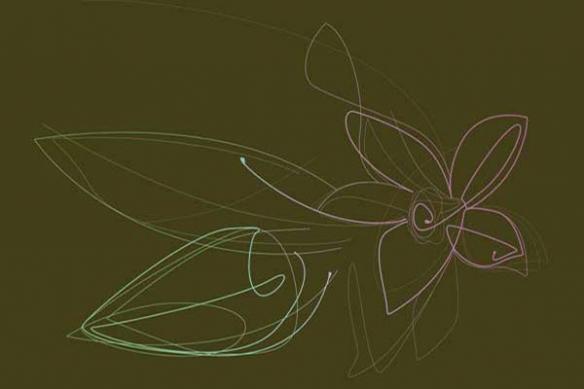décoration mural fleur de vanille