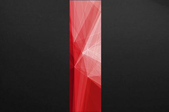 Papier peint graphique Scandium rouge
