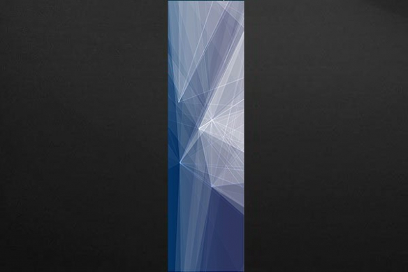 poster géant design Scandium bleu