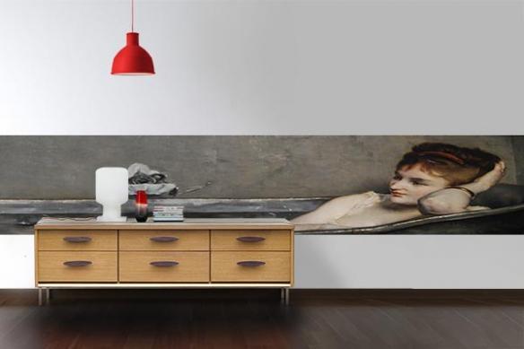 Papier peint déco mur Le bain