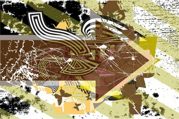 Papier peint moderne Flèche