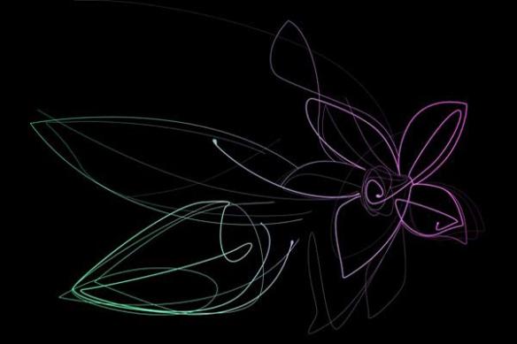 Papier Peint mural design Fleur vanille