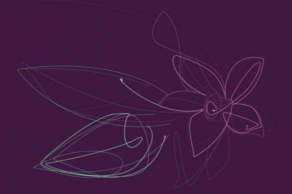 Fleur violet Vanille déco mur