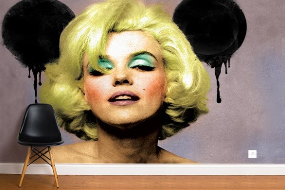 Papier peint mural Mickey Monroe