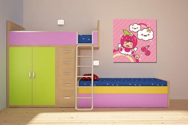 D coration chambre enfant tableau chouquette izoa for Decoration maison tableau