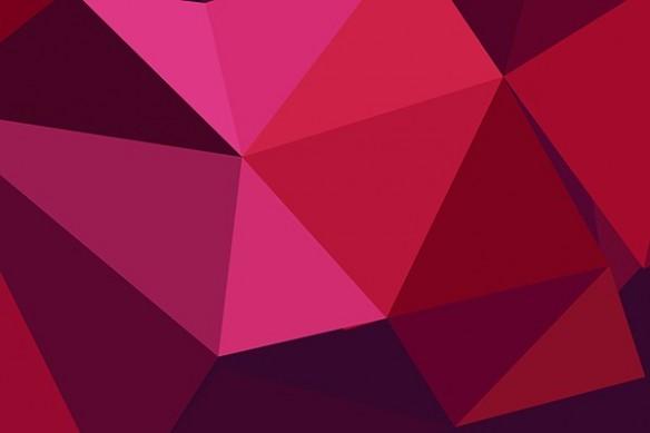 toile murale rubis rouge