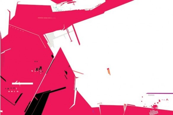 Toile design Decibel abstrait rouge