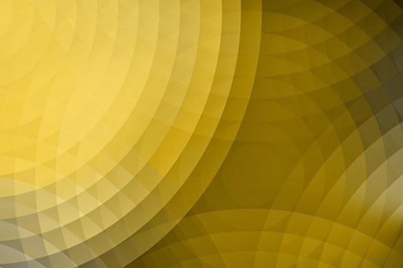 décoration murale abstraite Ondes de choc jaune