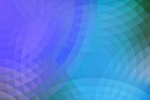 toile décoration Ondes de choc bleu